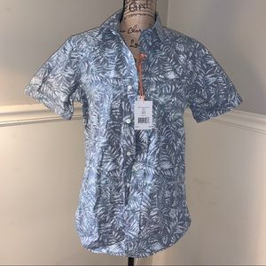 JACK SPADE Palm Leaf Short Sleeve Shirt S NWT
